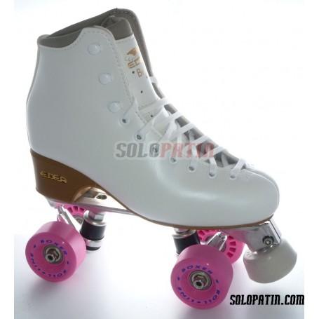 Figure Quad Skates EDEA BRIO Boots Aluminium Frames ROLL-LINE BOXER Wheels