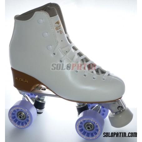 Figure Quad Skates EDEA BRIO Boots Aluminium Frames KOMPLEX AZZURRA Wheels