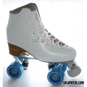 Figure Quad Skates EDEA BRIO Boots Aluminium Frames KOMPLEX IRIS Wheels