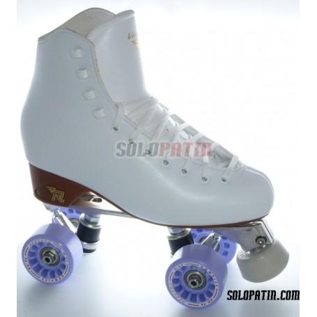 Figure Quad Skates RISPORT VENUS Boots Aluminium Frames KOMPLEX AZZURRA Wheels