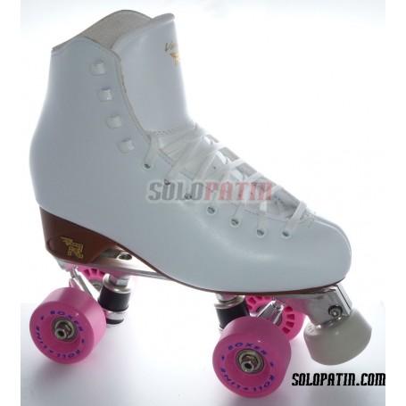 Figure Quad Skates RISPORT VENUS Boots Aluminium Frames ROLL-LINE BOXER Wheels