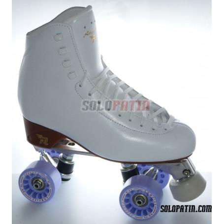 Figure Quad Skates RISPORT ANTARES Boots ATLAS EK Frames KOMPLEX AZZURRA Wheels