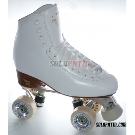 Patins Complets Artistique Bottines RISPORT ANTARES Platines ATLAS EK Roues ROLL-LINE GIOTTO