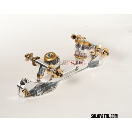 Planchas Patinaje Artístico Libre Roller Skates Cristal Titanio