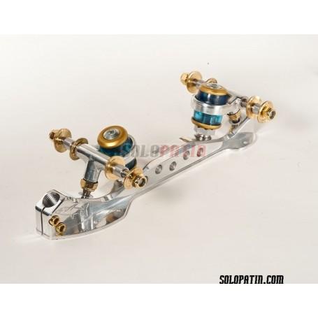 Platines Patinatge Artístic Lliure Roller Skates Cristal Titanio