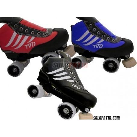 Conjunto Patines Hockey TVD COOL NEGRO