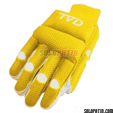 Guantes Hockey TVD SPIDER AMARILLO