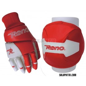 Protection Kit Reno Knee Pads Gloves Red White NEW 2015